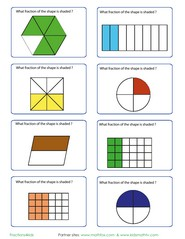math worksheet : identifying fractions from shapes games quizzes worksheets : Identifying Fractions Worksheet