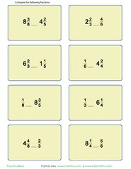 math worksheet : compare fractions with games worksheets and quizzes on this page  : Comparing Mixed Numbers And Improper Fractions Worksheet