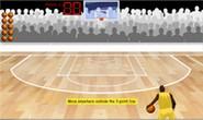 Add fractions horizontal arrangement hoop shoot game