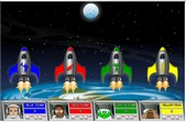 Multiplying fractions moonshoot game