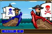 Multiplying fractions pirate game