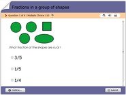 Fractions in a group of shapes