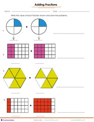 math worksheet : fractions worksheets understanding fractions adding fractions  : Visual Fractions Worksheet