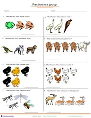 Fractions applied to group of animals