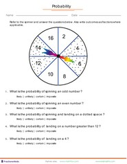math worksheet : as a fraction game worksheet quiz and flash card : Maths Probability Worksheets