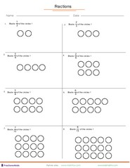 math worksheet : fractions worksheets understanding fractions adding fractions  : Fraction Shapes Worksheet