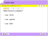 Fraction-table