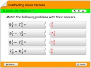 Subtracting-mixed-fractions